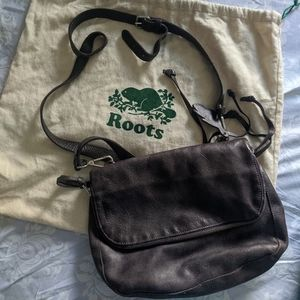 Roots Genuine Leather Crossbody Purse